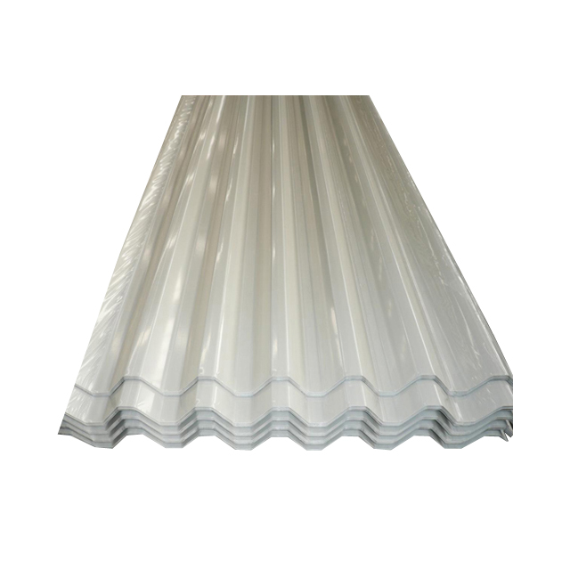 Prepainted steel corrugated roofing sheets coloured galvani